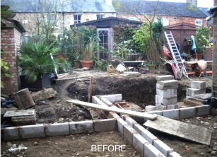 Before pic what the builders did