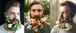 Amazing beards decorated with flowers