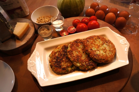 Courgette pine nut rosti