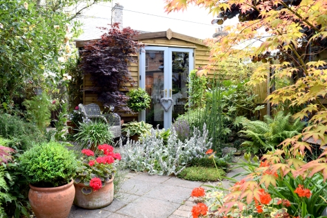 Outside doors painted and makes the outside look lovely!