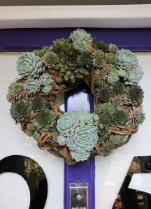 I'm very proud of my home-made wreath.