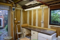 2 Inside using recycled kitchen units